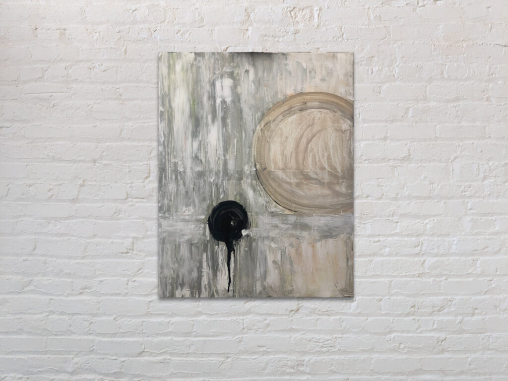 balance - a muted acrylic painting by Julia Scanlon