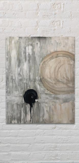 'balance' painting on white brick wall